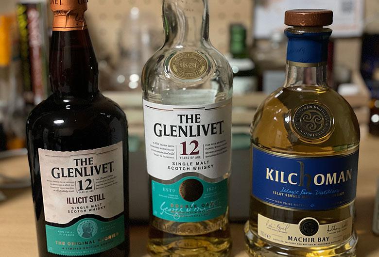 ザ・グレンリベット12年とイリシットスティルを飲み比べ
