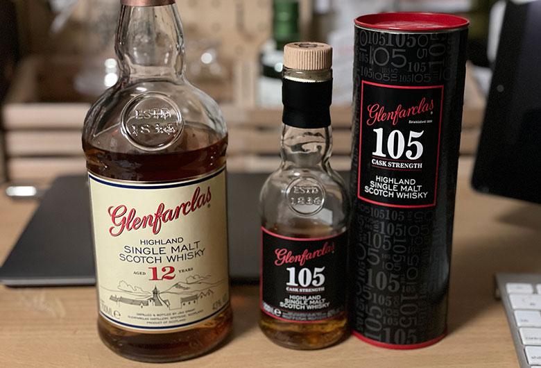グレンファークラス12年と105 飲み比べ