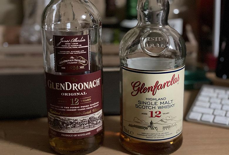 グレンドロナック12年とグレンファークラス12年 飲み比べ