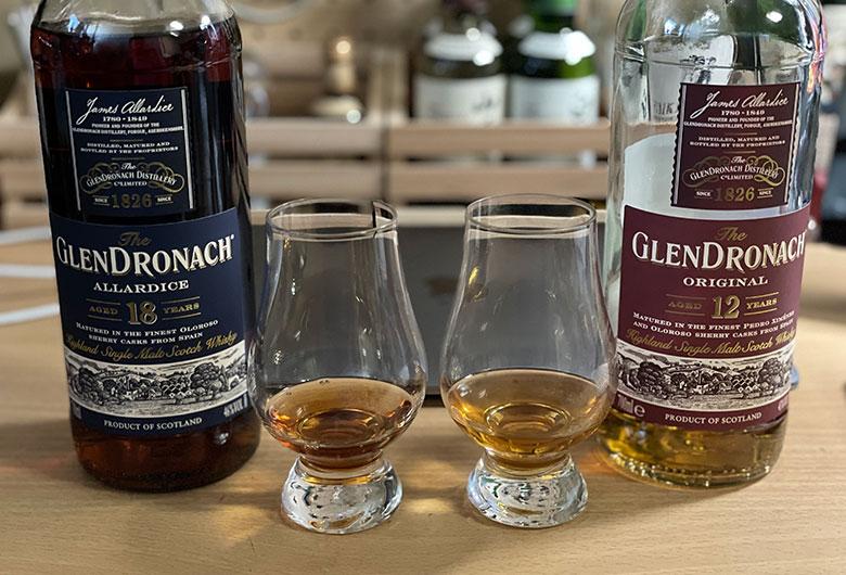 グレンドロナック12年とグレンドロナック18年 ストレート 飲み比べ