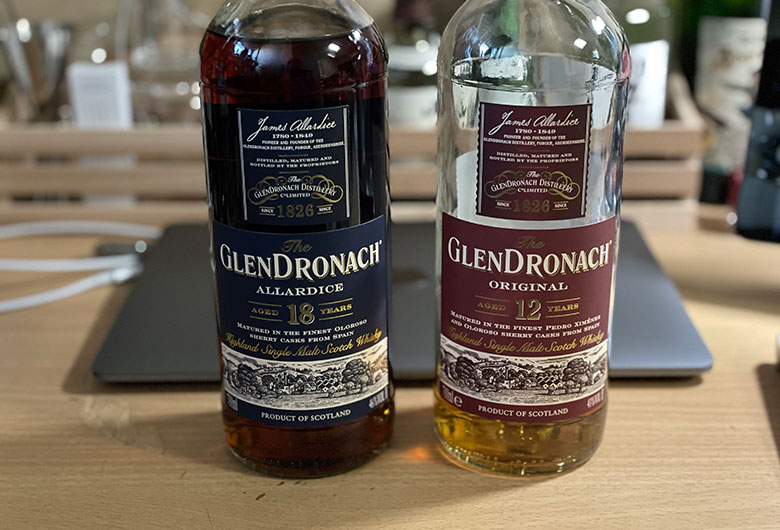 グレンドロナック12年とグレンドロナック18年を飲み比べ