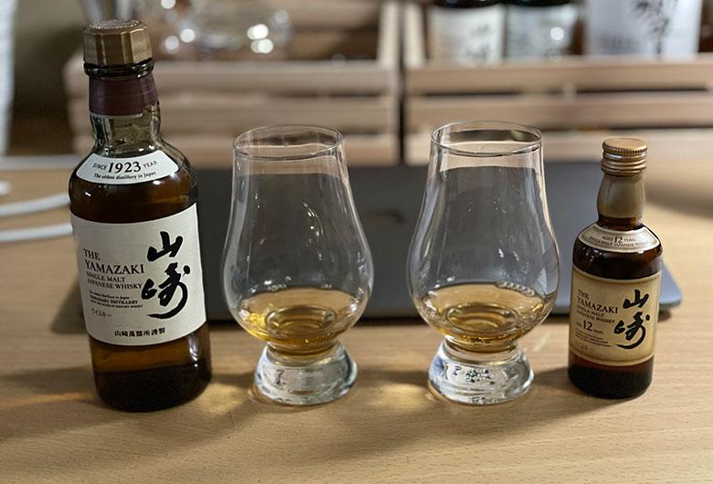 山崎12年と山崎NA 飲み比べ