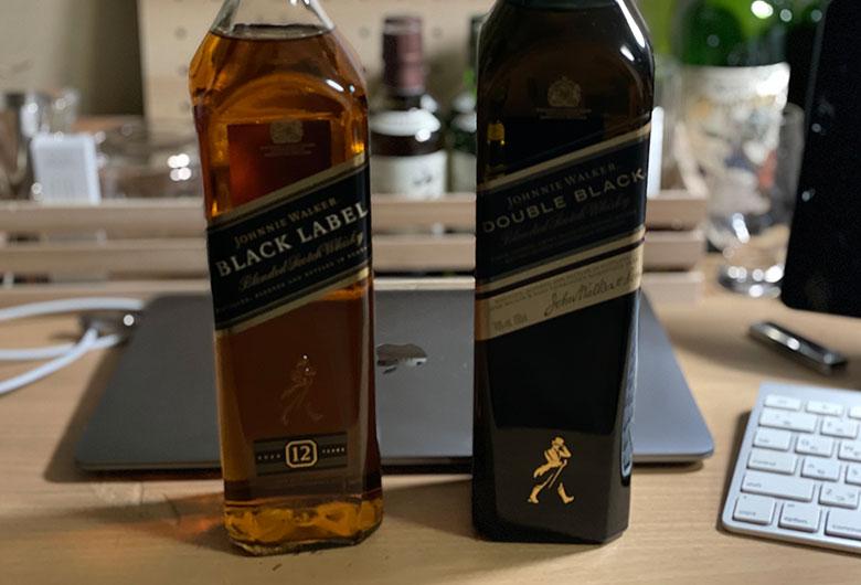 ジョニーウォーカー12年ブラックラベルとダブルブラック 比較